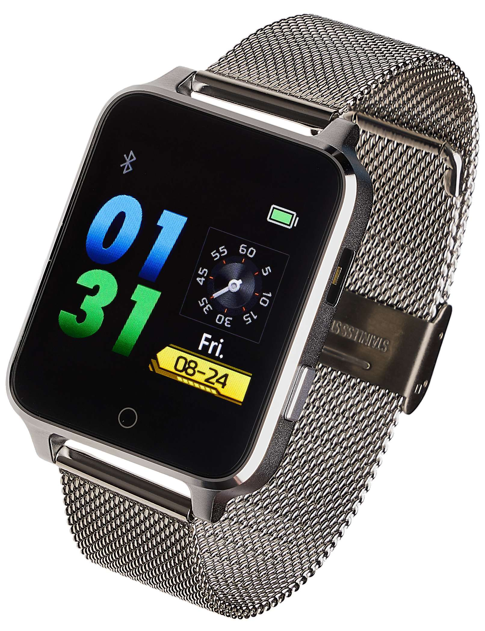 Smartwatch Garett Sport 26 srebrny stalowy