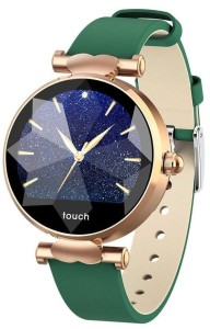 Smartwatch Garett Women Lisa gold - green leather