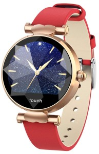 Smartwatch Garett Women Lisa red - gold leather