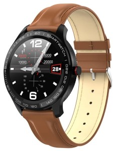 Smartwatch Garett Men 3S brown, leather