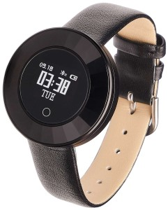 Smartwatch Garett Lea black leather