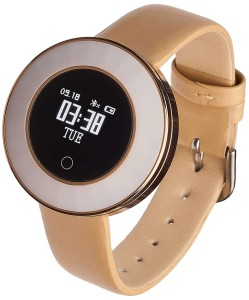 Smartwatch Garett Lea gold leather
